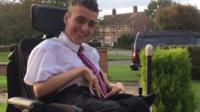 "A 16-year-old boy with cerebral palsy says he's been ""blown away"" by the reaction to a poem about the condition."