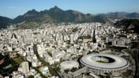 Aerial view of the Maracana Complex, a Rio 2016 Olympic Games venue