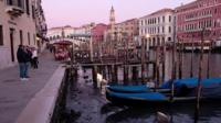 Water levels drop in Venice's canals
