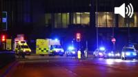 Emergency services outside Manchester arena