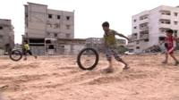Children playing in Gaza