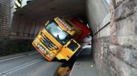 stuck lorry