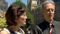 Rachel Barnes and Peter Tatchell
