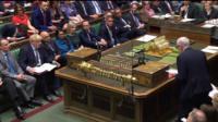 Boris Johnson and Jeremy Corbyn at PMQ