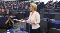 Ursula von der Leyen addresses MEPs after her election
