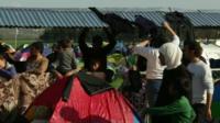 Migrants on Macedonia-Greece border
