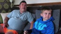 "Stuart Gumm says his son Carwyn, 12, gives him ""fight"""