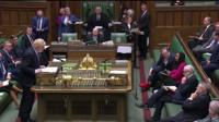 Front benches in House of Commons