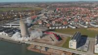 Silo demolition goes wrong in Denmark