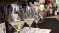 Australian wine being poured