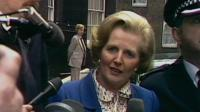 Margaret Thatcher arriving at Downing Street