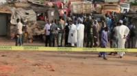 Scene of blast in Yola