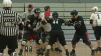 People playing roller derby