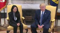 Aya Hijazi and Donald Trump