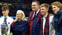 Doddie Weir with his family