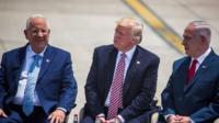 Reuven Rivlin; Donald Trump; Benjamin Netanyahu