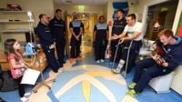 Cardiff Blues sing on hospital visit