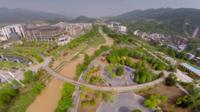 Aerial view of Wuxi New Town, China, 2015