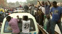 Crowds follow Besigye