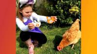 Evie and chicken