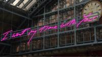 Tracey Emin art in St Pancras Station