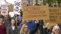 Protest for junior doctor dispute
