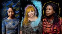 Composite image of portraits by Sam Ivin of Opelo, Aida and Gabriella