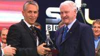 Gary Lineker and Sir Bobby Robson