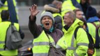 'yellow vest' protester