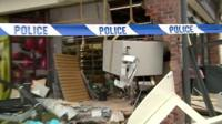 Scene of attempted cash machine raid