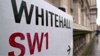 Road sign for Whitehall