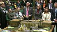 The vote is read out in the House of Commons