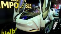 Futuristic car in Geneva