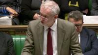Jeremy Corbyn speaking in Parliament on Thursday 26 November