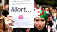 Anti-government protesters in Algeria