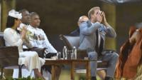 Prince Harry sipping kava in Fiji