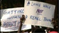 Anti-apartheid protests during the 1990 Rebel cricket tour of South Africa