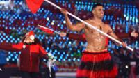 Tonga's Pita Taufatofua at the opening ceremony