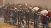Refugees at the Turkey-Syria border