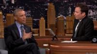 President Barack Obama and Jimmy Fallon