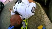 Police officer is treated for a drug overdose