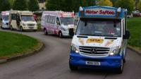 The world record-holding ice cream vans.