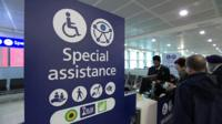 Special assistance sign at Heathrow