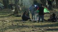Migrants on Lesbos