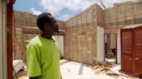 A survivor describes how his home was ripped apart by hurricane winds as his family sheltered inside.