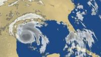 Satellite of Hurricane Harvey