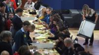 Westminster local election count