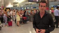 British tourists wait to fly back home from Tunisia