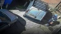 Man walks into van