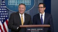 Mike Pompeo and Treasury Secretary Steven Mnuchin